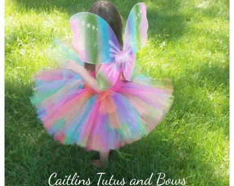 Rainbow butterfly tutu, butterfly tutu dress, fairy tutu dress, rainbow tutu dress, butterfly costume, fairy tutu costume, fairy costume