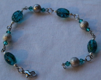 Blue Splatter Bracelet
