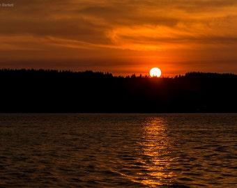 Sunset at Mukilteo Lighthouse & Beach, WA