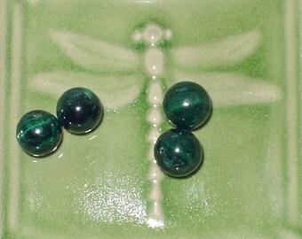 Natural Malachite Round Beads 13mm (4) - 496858