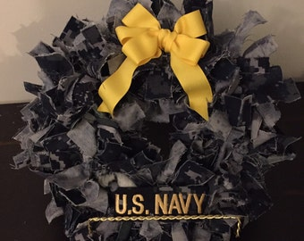 Mini Deluxe US Navy NWU Decorative Wreath