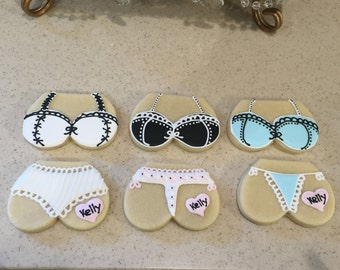 Lingerie, Underwear, Bachelorette Sugar Cookies