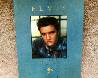 Elvis A Tribute to His Life Vintage Hardcover Book 1989