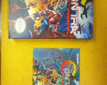 Contra Force box and manual