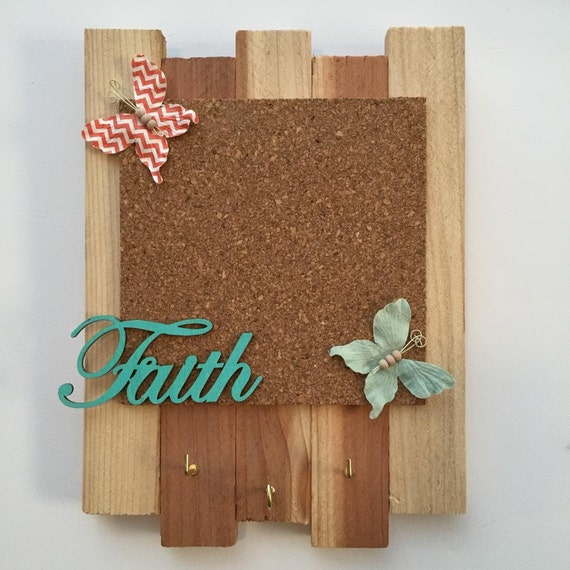 Faith cork board jewelry holder for Cork board with hooks