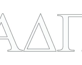 alpha delta pi letter window decal