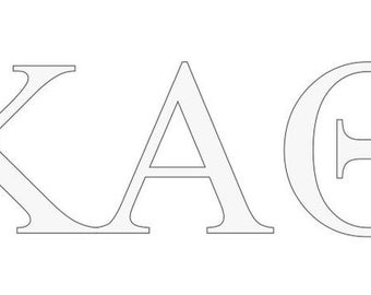 kappa alpha theta letter window decal