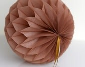 Mocha Tissue paper honeycombs -  hanging wedding party decorations
