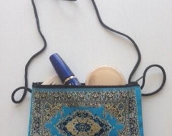 Handmade Turkish tapestry bag - Turkish woven purse - Traditional Turkish carpet bag