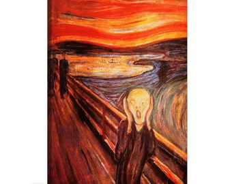 "Edvard Munch The Scream Canvas Art Print Painting Reproduction 26""x18"""