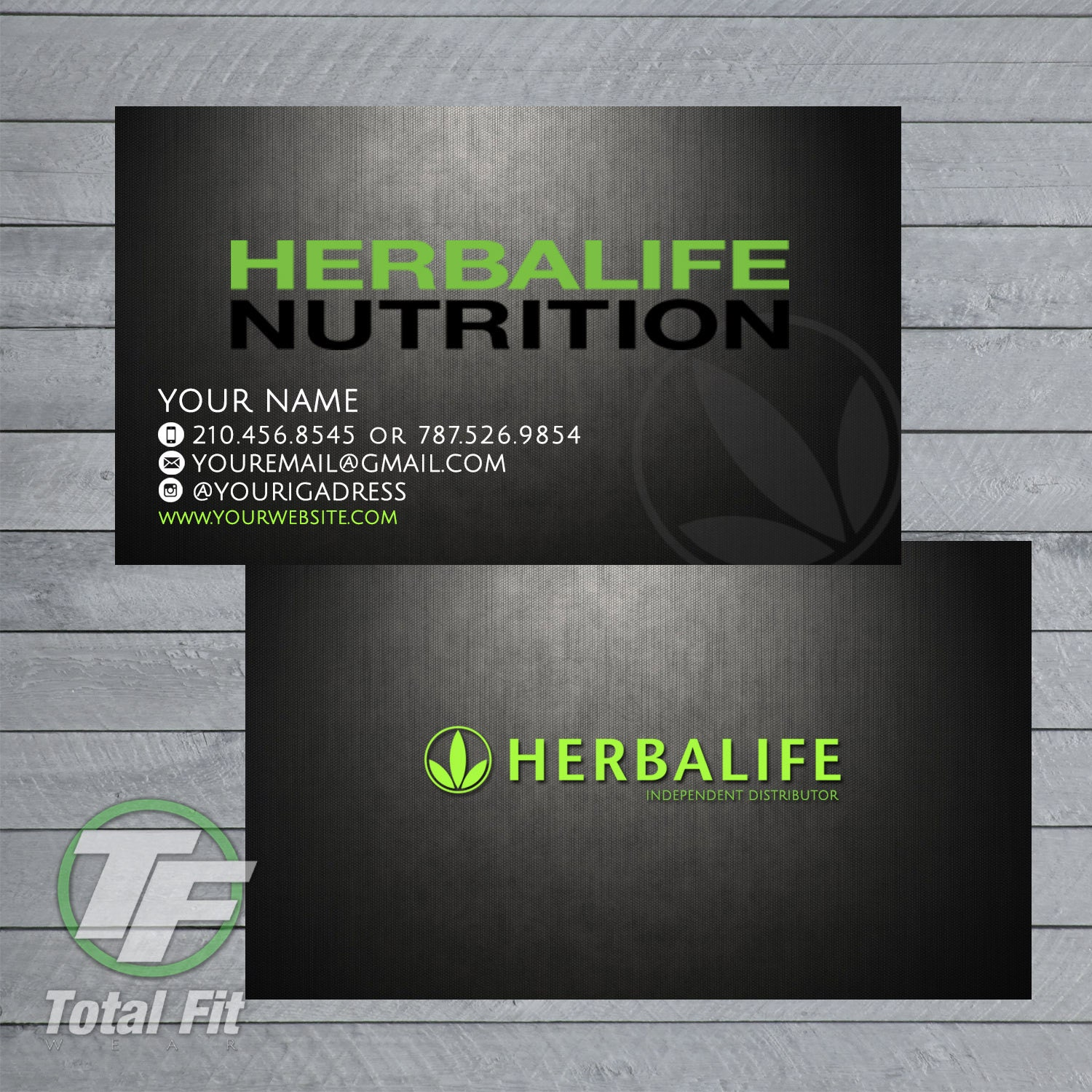 Herbalife business cards herbalife graphics by totalfitwear for Herbalife business card