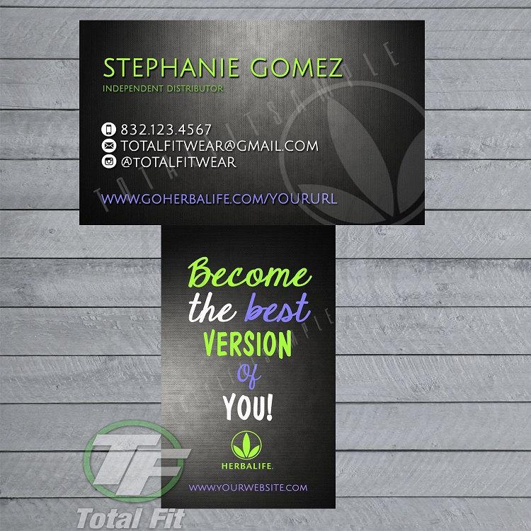 Herbalife Business Cards Herbalife Graphics by TotalFitWear