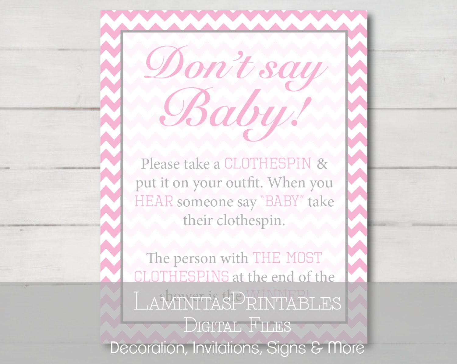 Remarkable image with regard to don't say baby game sign free printable