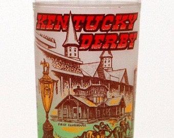 "CLEARANCE -----> 1978 - Kentucky Derby Julep Glass - ""Affirmed"" Triple Crown Winner - Orig Owner - Horse Racing"