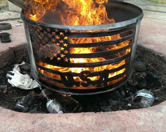 Steel Fire Pit Etsy