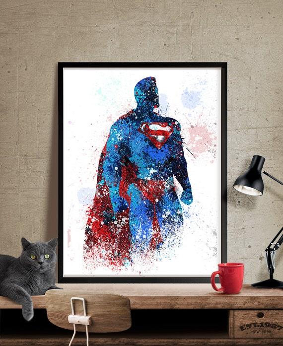 Superman Superman Poster Superhero Art Poster Heroes