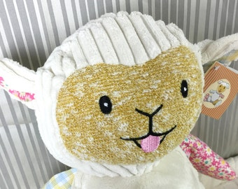 Personalized Patchwork Lamb (Stuffed Animal)