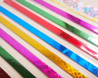 Origami Lucky Star Paper Strips Hologram Gemstone Star Folding - Pack of 60 Strips