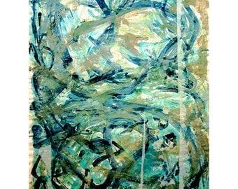Go Green-3. Giclee Fine Art Print, Abstract  Art, Wall Art, Home Office Decor