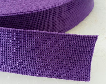 5 Yards, 1.5 inch (3.8 cm.), Polypropylene Webbing, Purple, Key Fobs, Bag Straps, Purses Straps, Belts, Tote Bag Handle