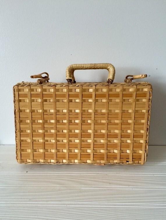 Vintage Wicker Picnic Basket 51