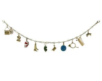 Vintage and Antique Stick Pin Top Charm Bracelet