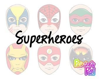 Digital Face Paint Design Pack - Superheroes