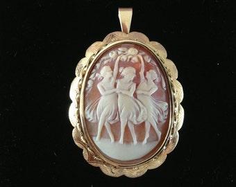 Antique cameo in gold