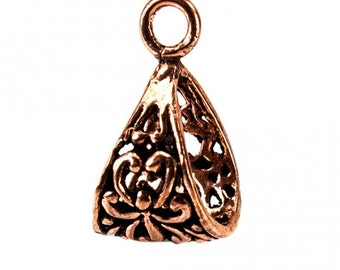 Antiqued Copper Lotus Bail