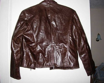 ladies rear leather jacket