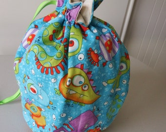 Little Monsters Draw String Bag