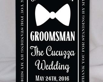 Whisky Groomsman Gift, Personalized Groomsman or Best Man Gift, Custom Groomsmen Gift, for 1 liter bottle, Wedding Party Gifts