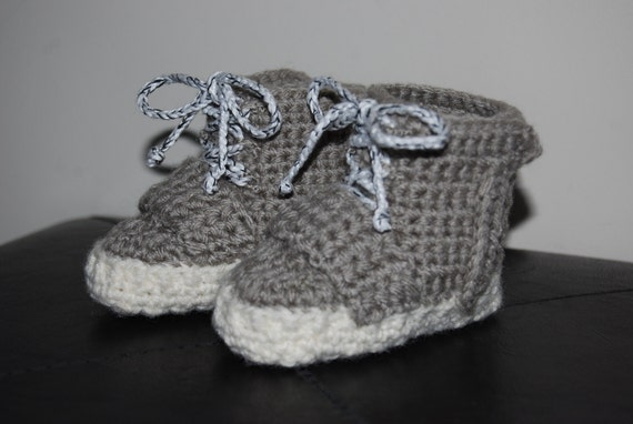 Crochet Yeezy : Yeezy 750 Boost Crochet Baby Booties by BabySnkrz on Etsy
