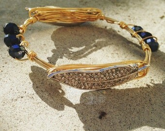 Feather wire bangle