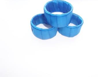 Blue Napkin Rings / Napkin Rings / Napkin Holders / Wedding Napkin Rings / Table Decor / Tablescape / Party Napkin Rings