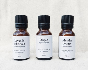 Essential trio: set of essential oils - 3 bottles of 15 ml each