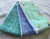 Mermaid burp cloths