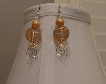 Peach Swirl Earrings