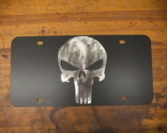 Punisher License Plate - Powder Coated - Stainless Steel Punisher