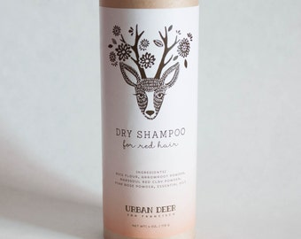 Dry Shampoo Powder – for Red Hair   Organic    Perfect for camping, glamping, music festivals, all your travels