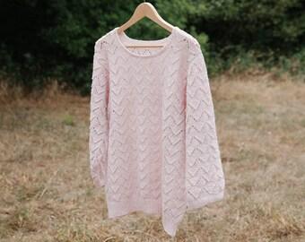 Point ajouré, tricot, patron, laine, pull femme - BichesetBûches no. 12