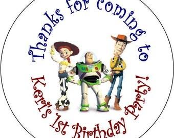 Toy Story Jessie woody  Birthday Party Stickers 2.5 inch Round Personalized kids Baby Shower