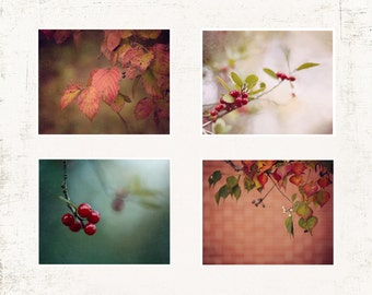 Rustic Wall Art, Living Room Wall Decor, SET of FOUR Prints or Canvases, Nature Photography, Fall Wall Art, Living Room Wall Art