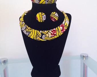Yellow Ankara Necklace