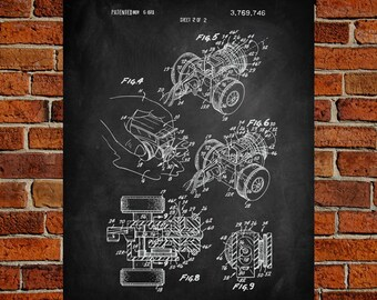 Rubber band car etsy rubber band toy car art print patent rubber band toy car vintage art malvernweather Image collections