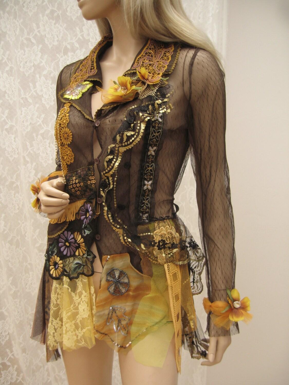 Ornate Romantic Tulle Jacket Feminine Jacket With