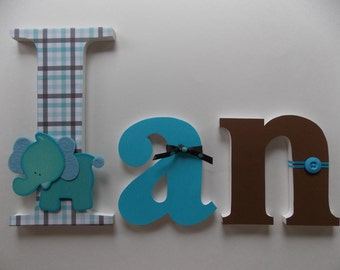 Personalized Wooden Letters for the Nursery or Child's Room