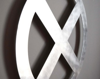 XMEN Logo - Floating Metal Wall Art
