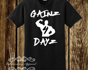 Gainz 4 Dayz- Mens Shirt Black
