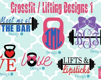 Cross fit vinyl decals - monogram decals - monogrammed decals - Cross fit vinyl - Cross fit sticker - decals - fitness - work out - monogram
